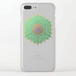 Boho Medallions Clear iPhone Case