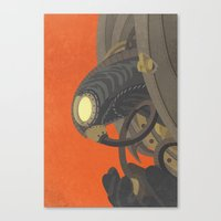 bioshock infinite Canvas Prints featuring SongBird - BioShock Infinite by LindseyCowley