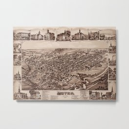 Map Of Dover 1885 Metal Print