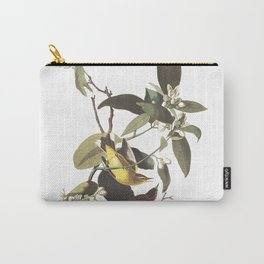 Palm warbler, Birds of America, Audubon Plate 163 Carry-All Pouch