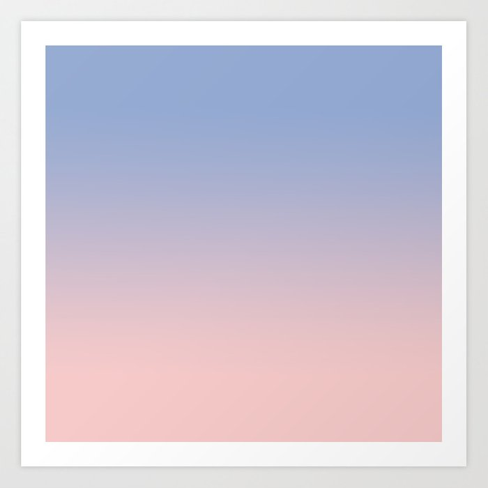 Favori Pantone Rose Quartz and Serenity Ombre Art Print by tamsinlucie  XE63