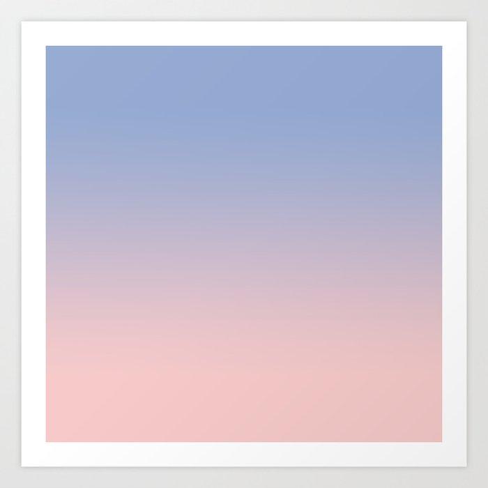 Pantone Rose Quartz And Serenity Ombre Art Print