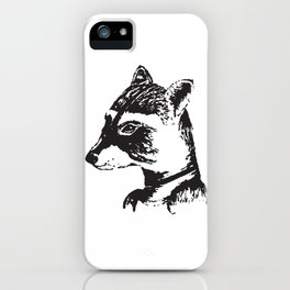 Ms. Raccoon iPhone Case