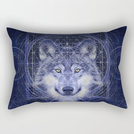 Wolf Geometry Rectangular Pillow