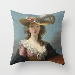 Louise Élisabeth Vigée Le Brun - Straw Hat Throw Pillow