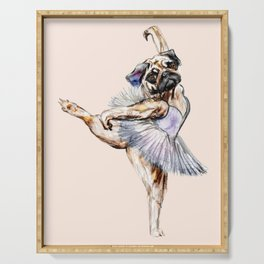 Pug Ballerina in Dog Ballet | Swan Lake  Serving Tray