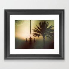 Mysterious sunset Framed Art Print