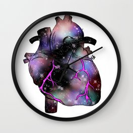 Galaxy Heart Wall Clock