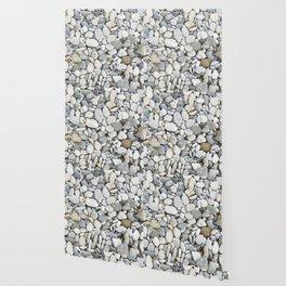 Grey pebbles Wallpaper