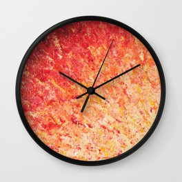 SAILOR'S SUNRISE - Beautiful Modern Abstract Crimson and Pink Nature Sky Sunset Ocean Reflection Wall Clock