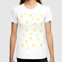 Lemons citrus design - fun colored pencil T-shirt