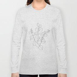 Minimalistic Eucalyptus  Line Art Long Sleeve T-shirt