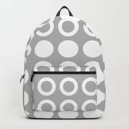 Mid Century Modern Circles And Dots Grey Backpack