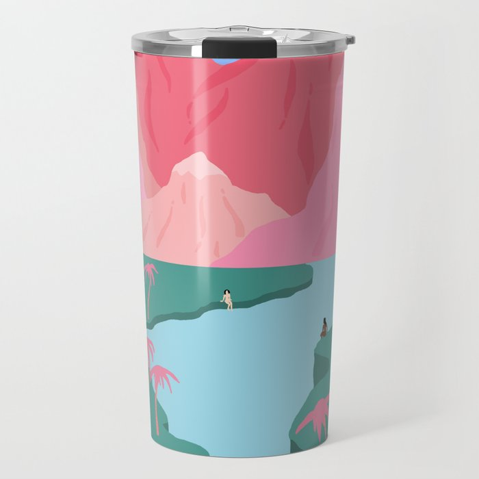 788a5af88fe Girls' Oasis Travel Mug by mirandalorikeet | Society6
