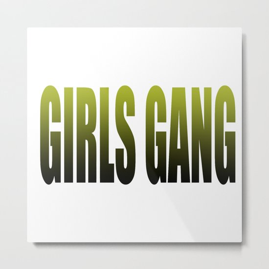 girls gang Metal Print