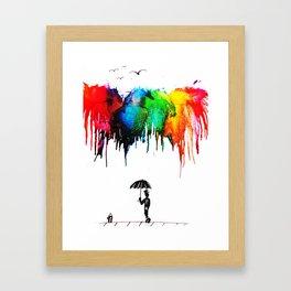 Colour Shower Framed Art Print