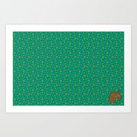 animal crossing Art Prints featuring Animal Crossing Summer Grass by Rebekhaart