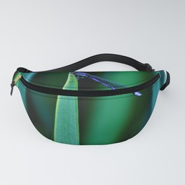 Dragonfly on Grass - Close up Fanny Pack