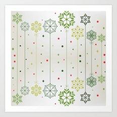 Holidays Deco Art Print
