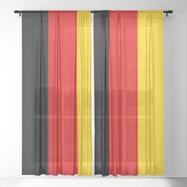 German Flag - Flag of Germany Sheer Curtain