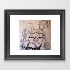 Experimental Faces Framed Art Print