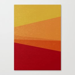 Stripe X Orange Peel Canvas Print