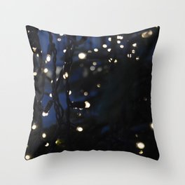 Tree Lights Throw Pillow