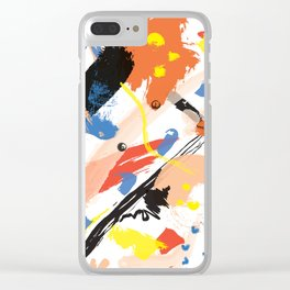 Abstract Floral Splash Clear iPhone Case