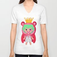 one piece V-neck T-shirts featuring Sugar from one piece by Dama Chan