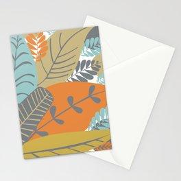 Bright Tropical Leaf Retro Mid Century Modern Stationery Cards