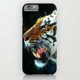 Live Tiger's Head Profile Growling With Epic Teeth iPhone Case