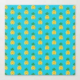 Sliced Geometric Pineapple Canvas Print