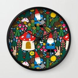 Gnome Home Wall Clock