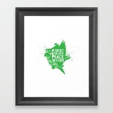Sleep in Peace Framed Art Print