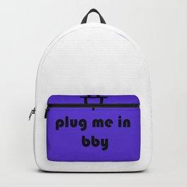 plug- purple Backpack