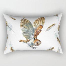 Barn Owl Landing  Rectangular Pillow
