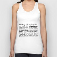 lettering Tank Tops featuring Lettering Lyrics by Insait disseny