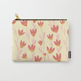 Red Tulips Pattern Carry-All Pouch