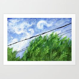Tress, Wind and Cables Art Print
