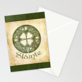 Slainte or To Your Health Stationery Cards