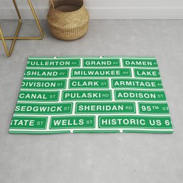 Famous Chicago Streets // Chicago Street Signs Rug