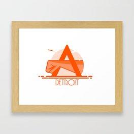 Detroit Joe Louis Shirt Framed Art Print