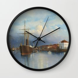 Batum 1881 By Lev Lagorio | Reproduction | Russian Romanticism Painter Wall Clock