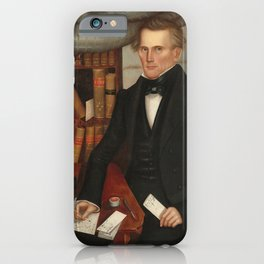 Vermont Lawyer Oil Painting by Horace Bundy iPhone Case
