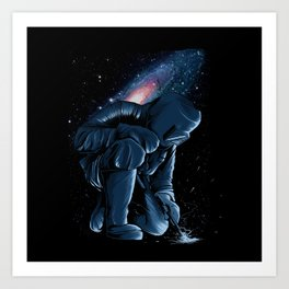 Welder In Space Art Print