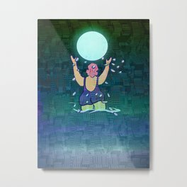 Bathing somewhere under the Moon Metal Print