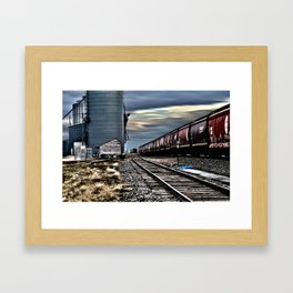 Harwood Grain Elevator Framed Art Print