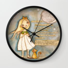 I See the Moon - Poetry print Wall Clock