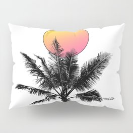 Palm Tree with a Sun Pillow Sham