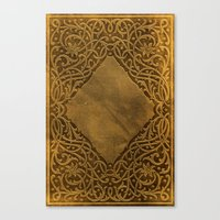 book cover Canvas Prints featuring Vintage Ornamental Book Cover by Nicolas Raymond